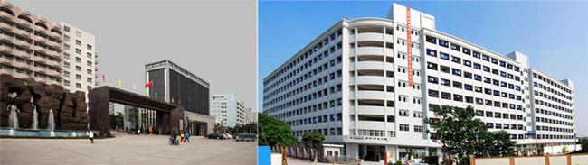 左边是学校的大门照片,右边是学生公寓A区照片