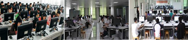 信息管理实训场室、计算机网络工程实训室、计算机一体化教室