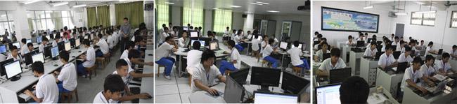 计算机多媒体实训室、计算机信息安全实训室、计算机软件设计实训室