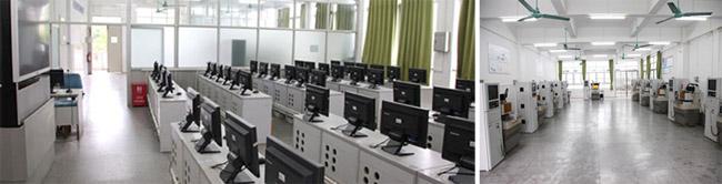 机电系数控编程实训室、精雕实训场