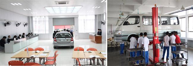 汽车营销实训室、汽车整车检测室