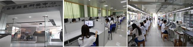 白云服装研发中心、服装电脑设计室、衬衣和针织精益生产线