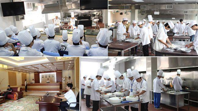 一体化烹饪示教实训场、学生中餐实训、学生前厅实训、烹饪实训室