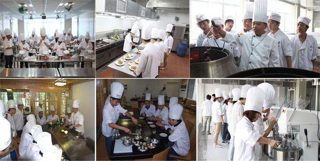 学生蛋糕裱花实训、学生西餐实训、学生烧腊实训、学生韩式烧烤实训、学生西点实训
