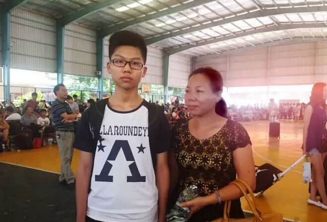 我来自广西玉林市陆川县,我叫李焕鑫