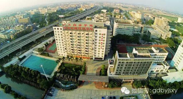 广州白云工商技师学院高空俯瞰图