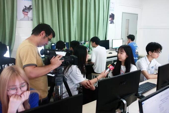 广州白云工商技师学院电子竞技运动与管理广东电视台专访