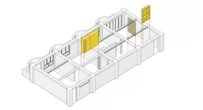 室内设计专业软装教室装饰 空间分割图